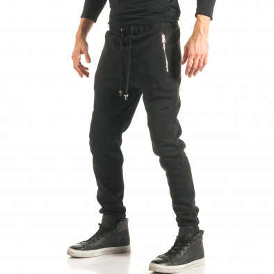 Pantaloni baggy bărbați Furia Rossa negri it181116-17 4