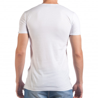 Tricou bărbați Eksi alb il060616-78 3