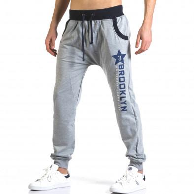 Pantaloni baggy bărbați Realman gri it110316-8 4