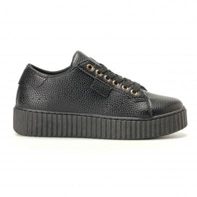Teniși de dama Ideal Shoes neagră it200917-57 2