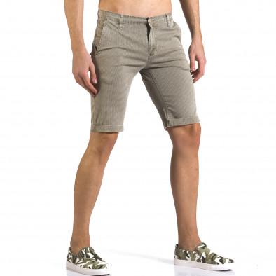 Pantaloni scurți bărbați Bruno Leoni bej it110316-48 4