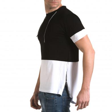 Tricou bărbați Man negru it090216-69 4