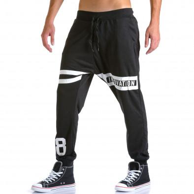 Pantaloni baggy bărbați Eadae Wear negri ca260815-30 4
