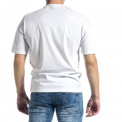 Tricou bărbați Breezy alb tr270221-47 3