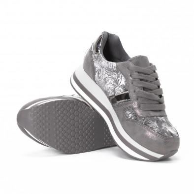 Pantofi sport cu platforma de dama în gri it150818-80 4