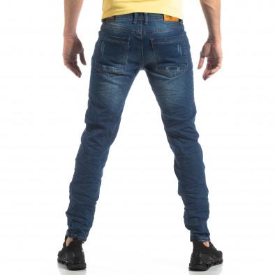 Blugi albaștri pentru bărbați cu imprimeu patch-uri it210319-8 4
