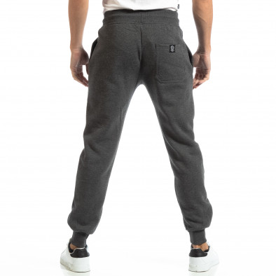 Pantaloni sport pentru bărbați gri cu inscripție it261018-44 4