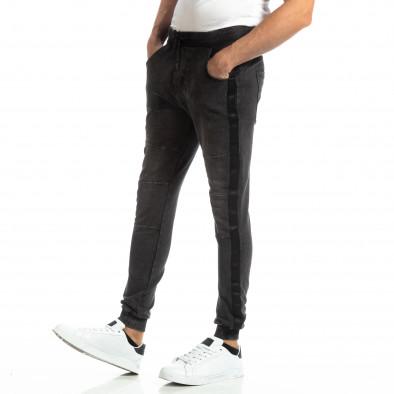 Jogger pentru bărbați în culoare denim negru it261018-48 2