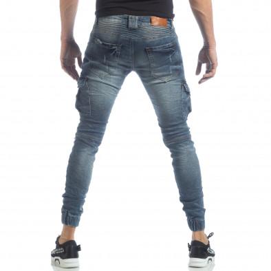 Cargo Jeans albaștri pentru bărbați it040219-17 4