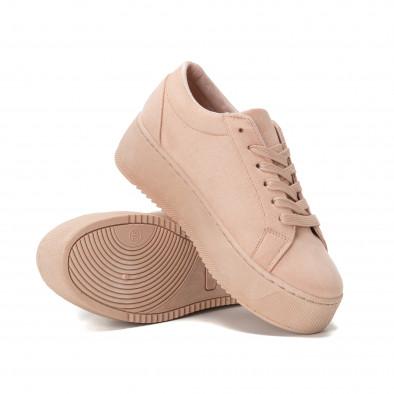Teniși All pink pentru dama cu platforma it150818-50 4