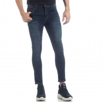 Skinny Jeans de bărbați model clasic albaștri it040219-8 2