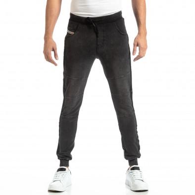 Jogger pentru bărbați în culoare denim negru it261018-48 3