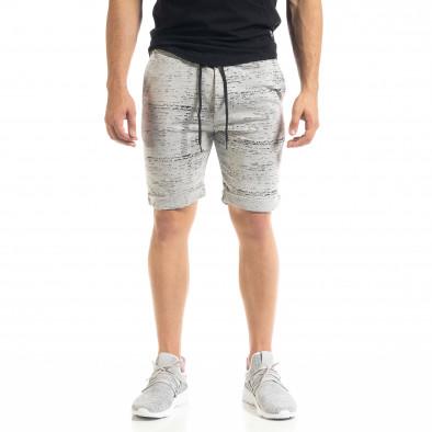 Pantaloni scurți bărbați Alpini Firenze gri it050620-17 2
