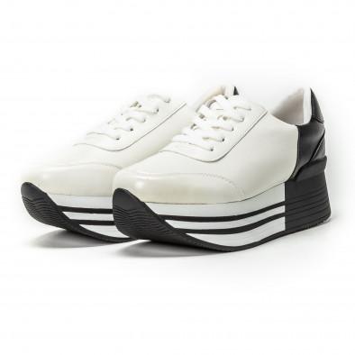 Pantofi sport cu platforma în negru-alb pentru dama  it150818-72 3