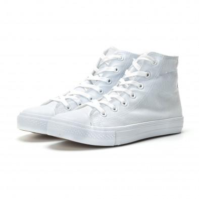 Teniși înalți albi de bărbați model basic it250119-3 3