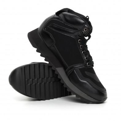 Pantofi sport înalți negri pentru bărbați it130819-23 4