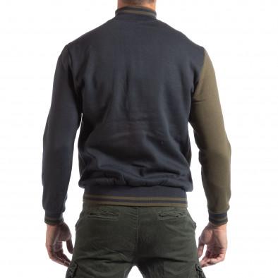 Hanorac pentru bărbați Angel Militare în albastru și verde it250918-68 3