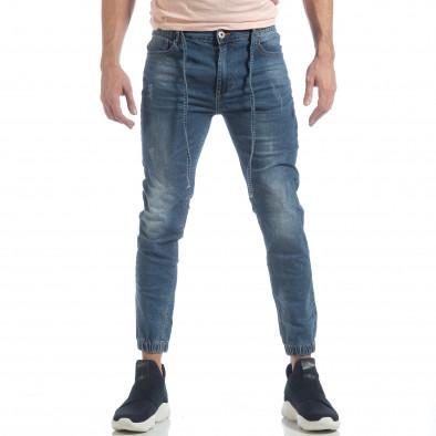 Jogger Jeans albastru pentru bărbați it040219-3 3