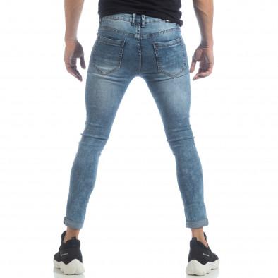 Skinny Washed Jeans albaștri pentru bărbați  it040219-7 4