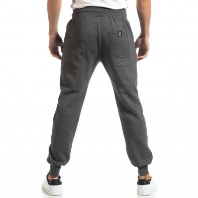 Pantaloni sport groși în melanj gri pentru bărbați it261018-41 4