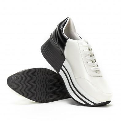 Pantofi sport cu platforma în negru-alb pentru dama  it150818-72 4