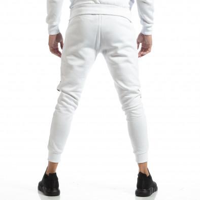 Jogger pentru bărbați alb cu părți negre it261018-61 4