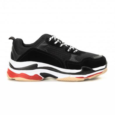 Adidași în negru și roșu pentru bărbați  it221018-41 2