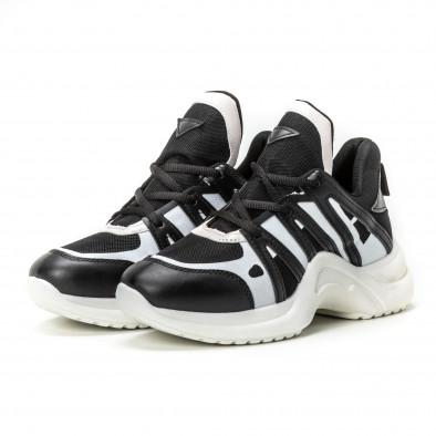 Pantofi sport pentru dama în negru-alb it150818-48 3
