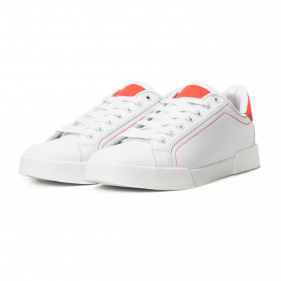 Teniși albi Basic cu părți roșii pentru bărbați  it150818-23 3