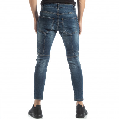 Blugi albaștri Biker style pentru bărbați it051218-9 4