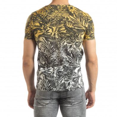 Tricou galben pentru bărbați motiv Leaves it150419-107 3