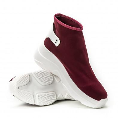 Pantofi sport fără șireturi pentru dama din neopren roșu it150818-74 4