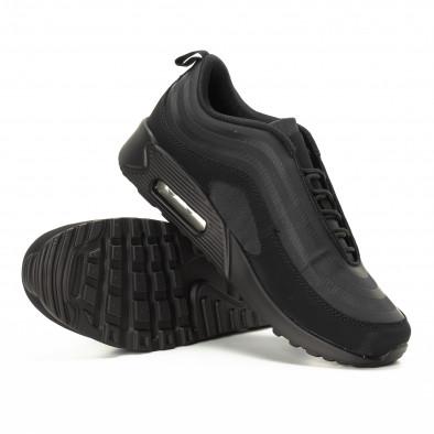 Adidași negri cu perna de aer pentru bărbați it221018-29 4