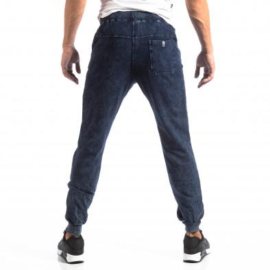 Biker Jogger pentru bărbați în culoare denim albastru it250918-44 4