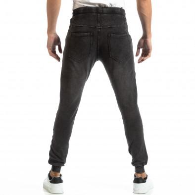 Jogger pentru bărbați în culoare denim negru it261018-48 4