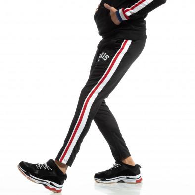 Pantaloni sport pentru bărbați Paris în negru it261018-62 2