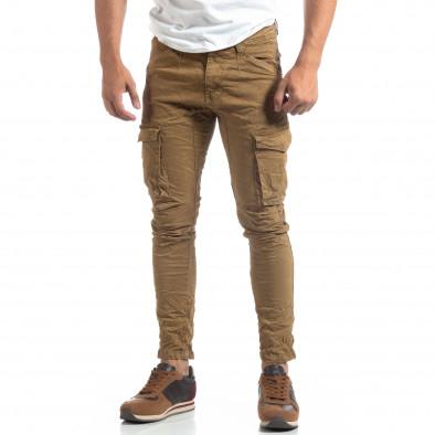 Pantaloni cargo kaki drepți pentru bărbați it170819-14 3