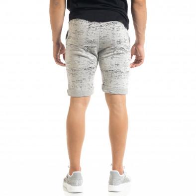 Pantaloni scurți bărbați Alpini Firenze gri it050620-17 3