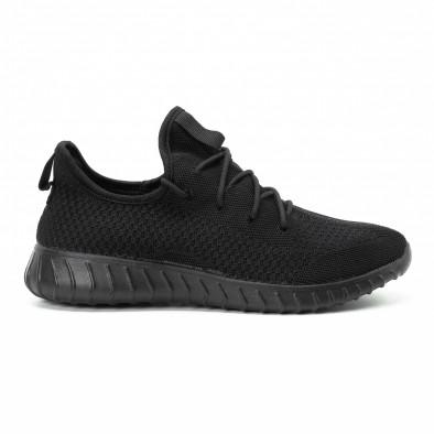 Adidași All black din material textil pentru bărbați model ușor it140918-10 2