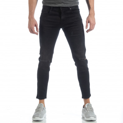 Blugi elastice de bărbați Slim fit negri  it040219-19 3