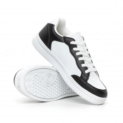 Teniși Skate în alb și negru pentru bărbați it130819-7 4