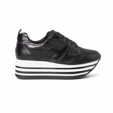 Pantofi sport cu platforma de dama cu părți strălucitoare it150818-29 2