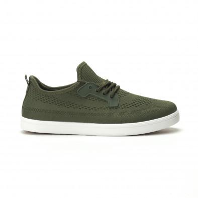 Pantofi sport ușori în verde militar pentru bărbați it250119-15 2