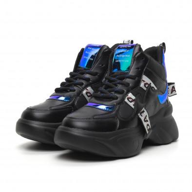 Pantofi sport de dama înalți cu accente neon it260919-64 3