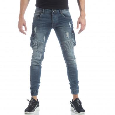 Cargo Jeans albaștri pentru bărbați it040219-17 3
