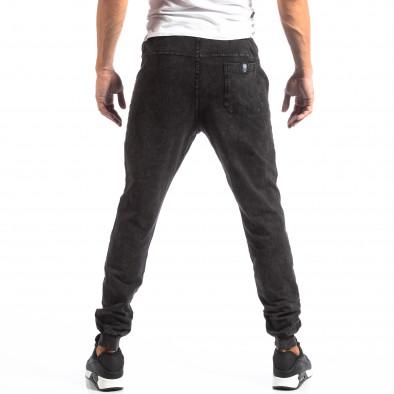 Biker Jogger pentru bărbați în culoare denim negru it250918-43 4