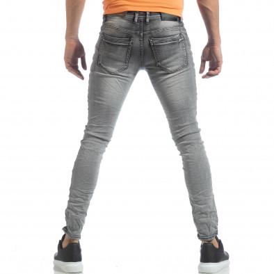 Washed Slim Jeans gri pentru bărbați it040219-14 3