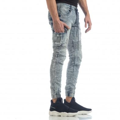Washed Cargo Jeans pentru bărbați it040219-18 2