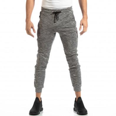 Jogger pentru bărbați din tricot în melanj gri it261018-36 3