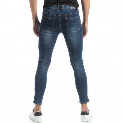 Blugi Skinny în albastru pentru bărbați it051218-1 3